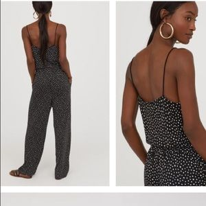 3/$20 H&M black with white speckles jumpsuit